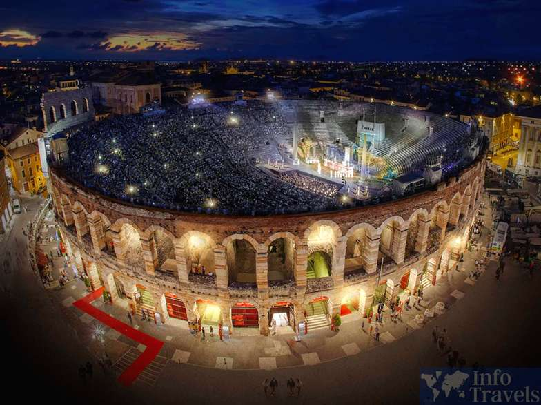 Арена-ди-Верона город Верона. Италия