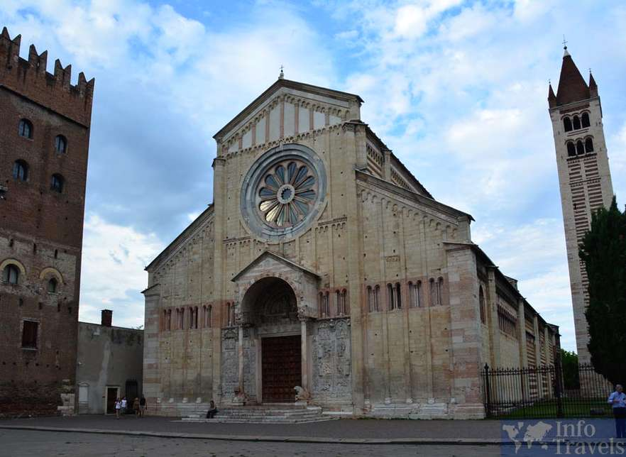 Базилика-Сан-Дзено-Маджоре в Вероне. Италия