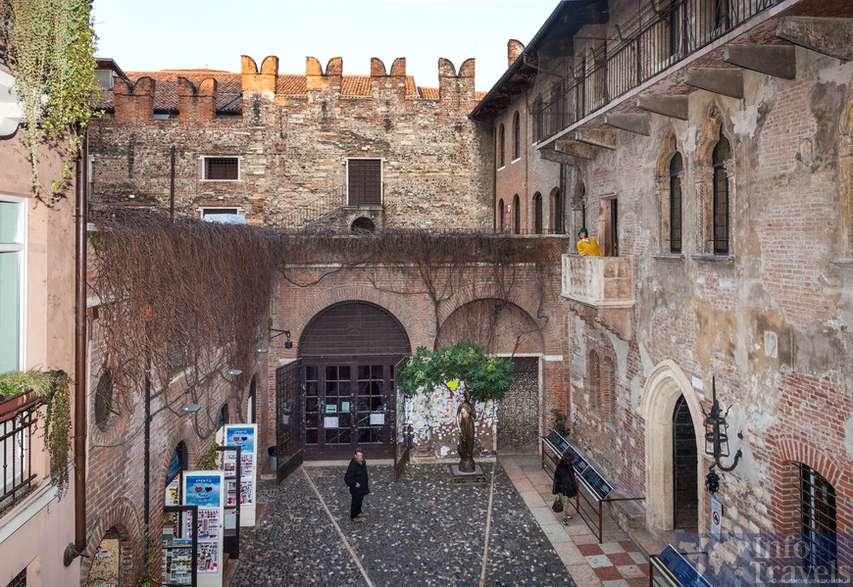Дом Джульетты в Вероне. Италия