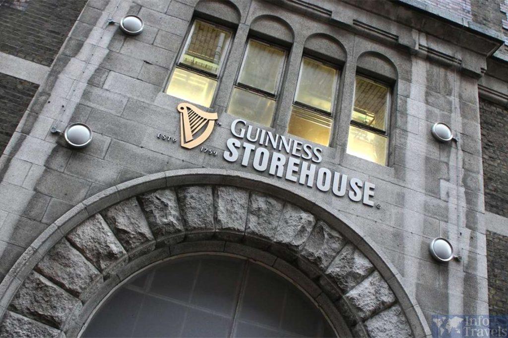 Склад Гиннесса в топ 9 лучших достопримечательностей Дублина