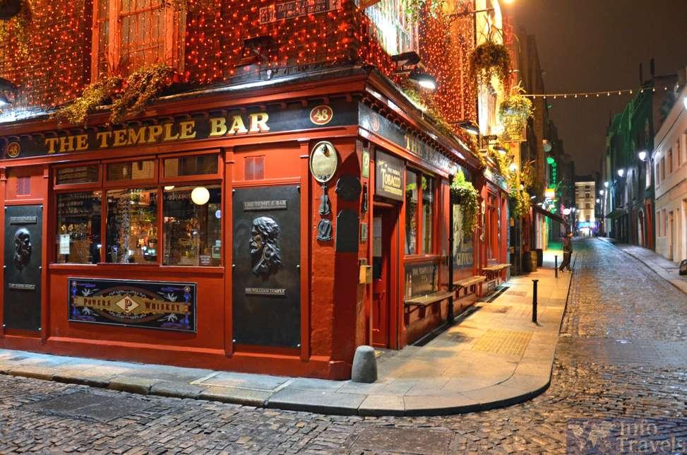 Темпл-Бар в топ 9 лучших достопримечательностей Дублина