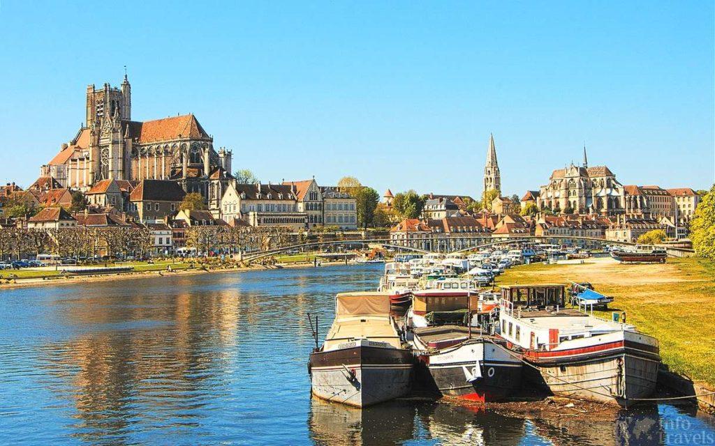 Фотография города Бургундия. Франция