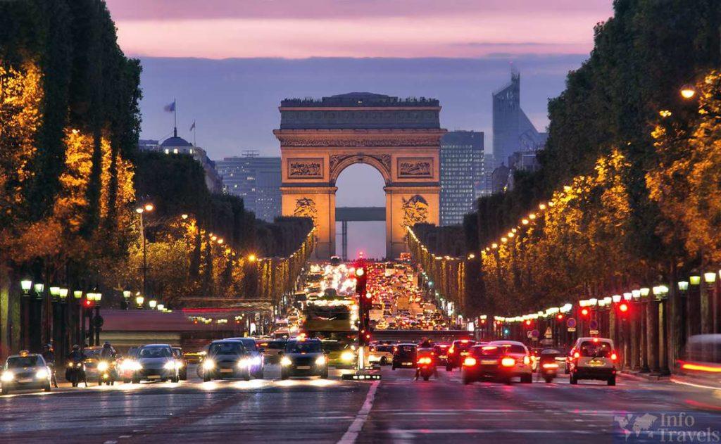 Триумфальная арка. Париж. Лучшие места во Франции