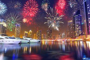 Фейерверк на Новый год в Дубае