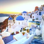 Один из островов Греции. Остров Santorini