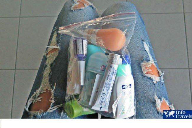 Упаковка жидкостей для ручной клади