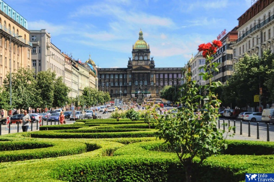 Вацлавская площадь. Прага