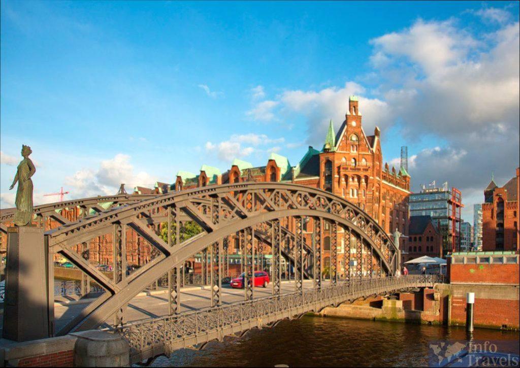 Мост Brooksbrücke в Гамбурге
