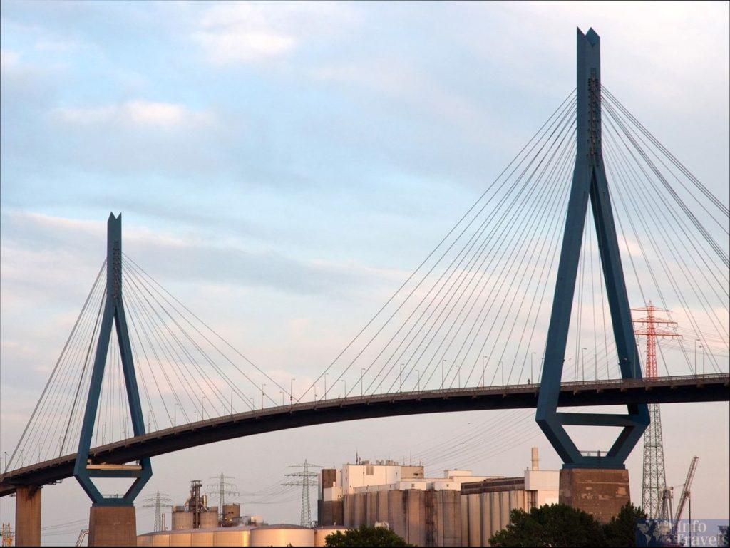 Мост Köhlbrandbrücke в Гамбурге