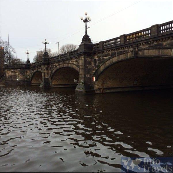 Мост Lombardsbruecke в Гамбурге