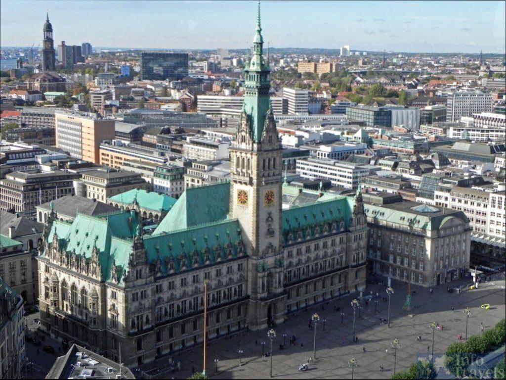 Ратуша (Rathaus) в Гамбурге