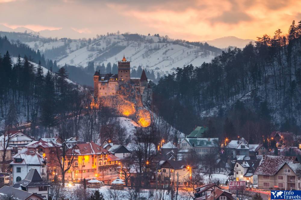 Брашов, Румыния зимой