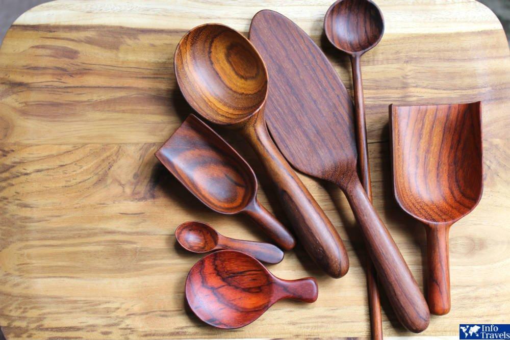 Кухонные принадлежности из тикового дерева