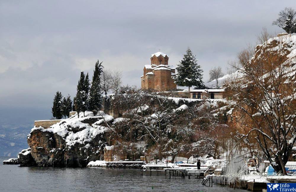 Охрид, Македония зимой