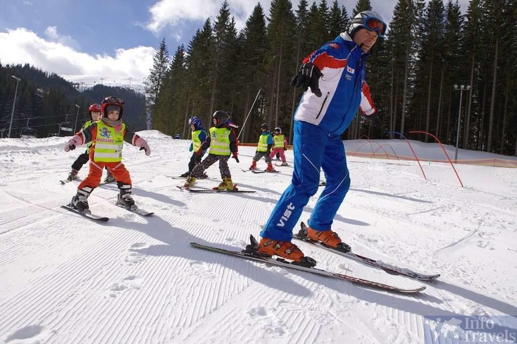 горнолыжные курорты Болгарии Обучение лыжников