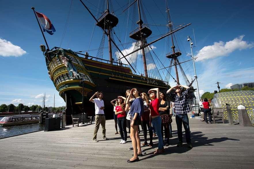 Музей-корабль в Нидерландах
