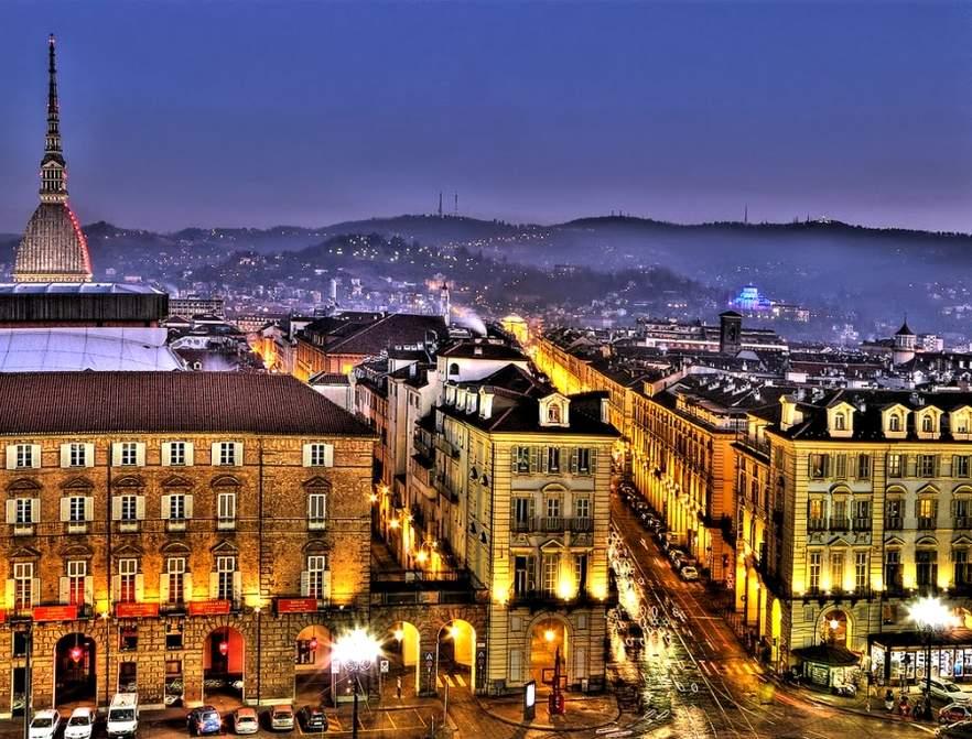 Достопримечательности Турина вид на город